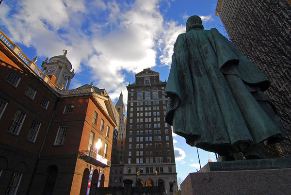Old Statehouse Square, Hartford, CT, by David Everett